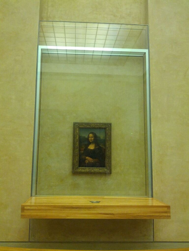 The Mona Lisa - and yes, all of us avoided the temptation to take a selfie with it (photo courtesy of Sebastian Schrönghammer)